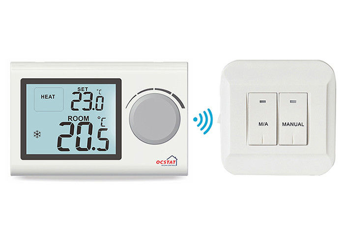 Water Heating System Wireless Digital Room Thermostat , Rf Boiler ...