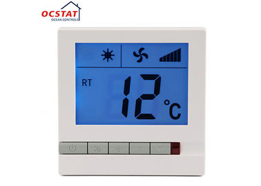 Wall Mounted Easy Heat Non Programmable Thermostat Large LCD Fan Speed Control