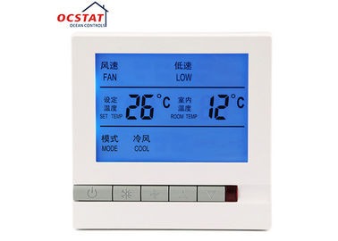 LCD Display Non Programmable Thermostat , FCU Room Central Air Conditioning Thermostat