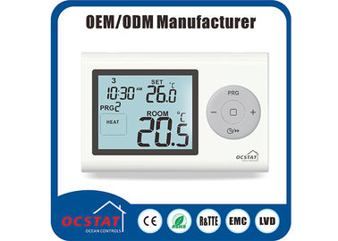 Water Heating Boiler Controller Gas Heater Thermostat Digital Programmable White Backlight