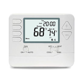 24V Digital Room Heat Pump Thermostat With Large Digital Display Dual Powered