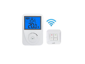 Wireless Digital HVAC RF Room Thermostat Temperature Controller For  Living Room