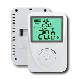 China Anti - Flammable ABS Non - Programmable Heating Thermostat For Boiler factory
