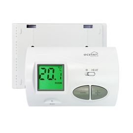 White Omron Relay Wired Heated Floor Thermostat For Indoor Bedroom