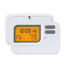 White 7 Day Programmable Digital Underfloor Heating Thermostat With NTC Sensor