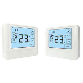 China White Air Conditioner LCD Touch Screen Thermostat For Bedroom / Kitchen factory