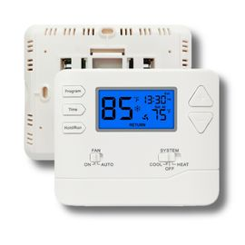 China Universal HVAC System Weekly Programmable Thermostat 24 Volt With Push Buttons factory