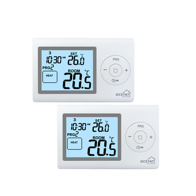 PC ABS Digital Programmable Room Thermostat For Heating System