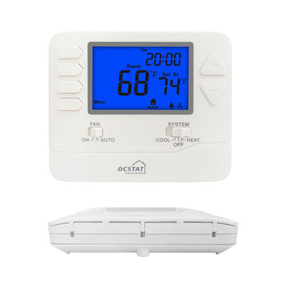 24V Wired Programmable Fireproof ABS HVAC Thermostat