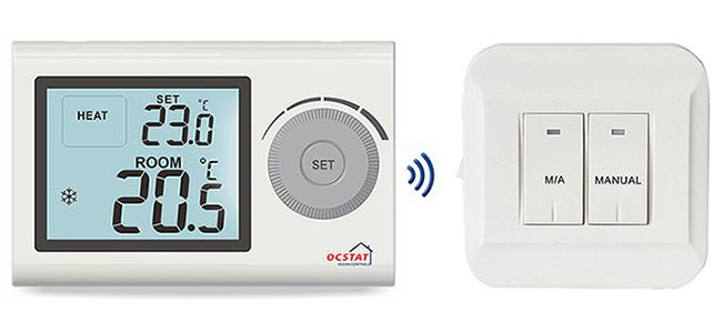 heating boiler control rf room thermostat for gas boiler