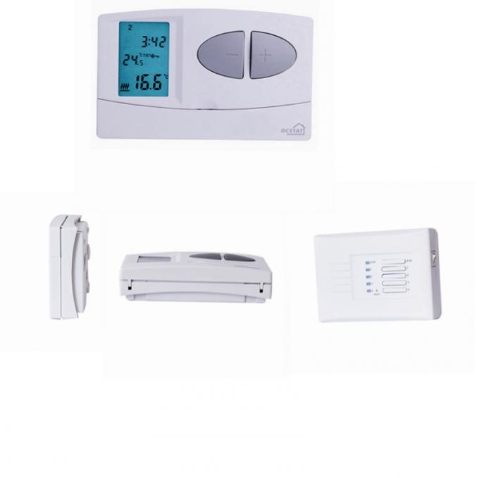 7 Day Programmable Temperature Control Heating Room Thermostat with Battery