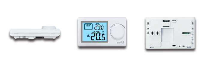 ROHS Non Programmable Thermostat / Large Button ABS 230V Wifi Wired Heating Controller Room Thermostat For Underfloor